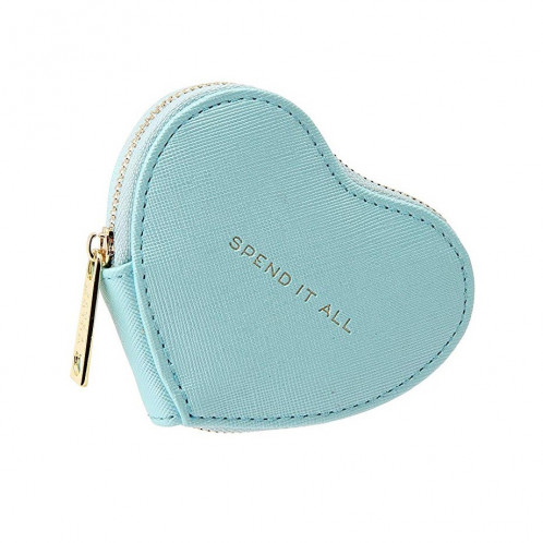 Heart Coin Purse - Spend It All (Blue)