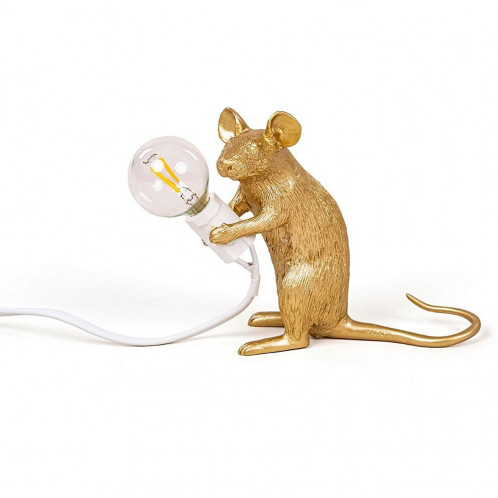 Mouse Lamp - Sitting Gold