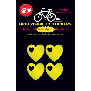 Glow Stickers - Hearts Yellow