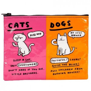 Zipper Pouch - Cats & Dogs