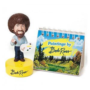 Bobble Head with Sound - Bob Ross