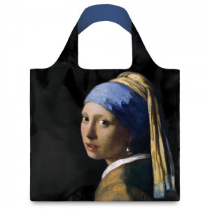 LOQI Tote Museum - Girl Pearl Earring