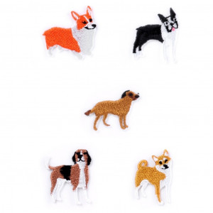 Iron On Patches - Dog Set Small