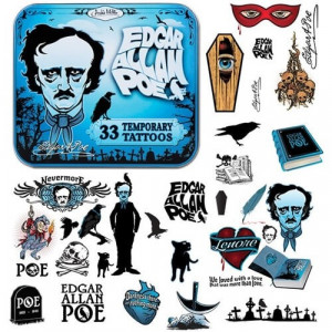 Temporary Tattoos - Edgar Allen Poe
