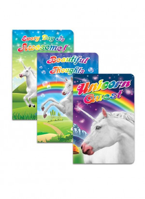 Archie McPhee Enchanted Unicorn Notebooks, Unicorn Quest, 3 Pack