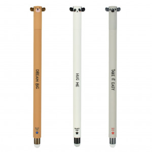 Set of Erasable Gel Pens (Bear, Panda, Koala)