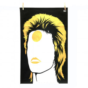 Tea Towel - Bowie Gold