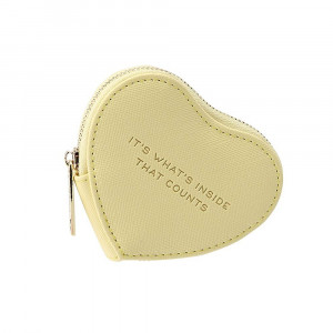 Heart Coin Purse - It's Inside (Yellow)