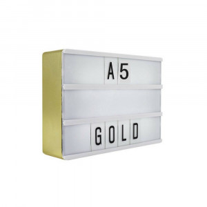 Golden Led Light Box - A5