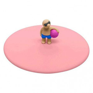 Glass Lid - Beach Boy Pink