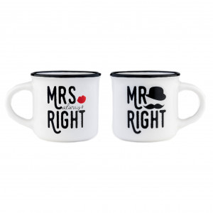 Espresso Mugs - Mr & Mrs