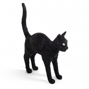 black cat lamp seletti