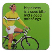 Onderzetter - Happiness is a Good Bike