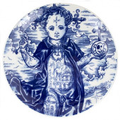Schiffmacher Royal Delft  Blue Tattoo -  Bord Memento Mori