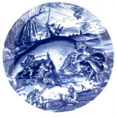 Schiffmacher Royal Delft Blue Tattoo -  Bord  Pisces Bruegel