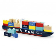 Container Ship - Wood