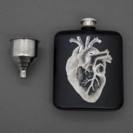 Hip Flask & Funnel - For Medicinal Purposes