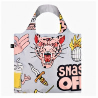 LOQI Tote snake, beer, tiger grijs aboutnow.nl