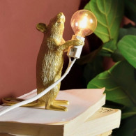 Mouse Lamp - Standing Gold