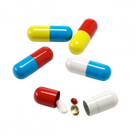 Pill Box - Small Red/Blue
