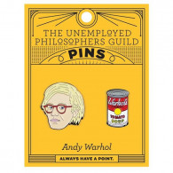 Pins - Andy Warhol & Soup Can