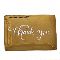 golden tray thank you | Aboutnow.nl